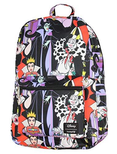 Disney Villains Allover Print Travel School Backpack Book Bag