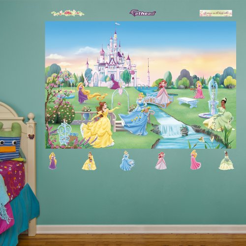 FATHEAD Disney Princess: Mural-Huge Officially Licensed Removable Graphic Wall Decal