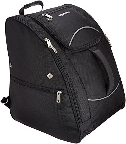 AmazonBasics Waterproof Ski Boot Bag - 14 x 18 x 14.5 Inches, Black , , One-Size