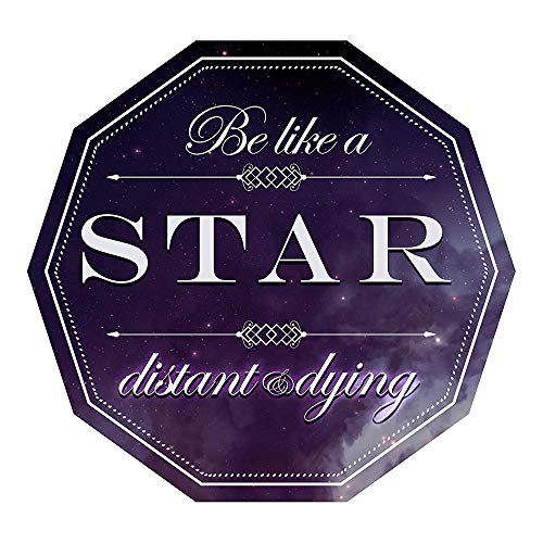 Decal Flags USA Be Like A Star Distant and Dying Funny Joke Demotivational Sticker - Peel and Stick Sticker - Auto, Wall, Laptop, Cell, Truck Sticker for Windows, Cars, Trucks