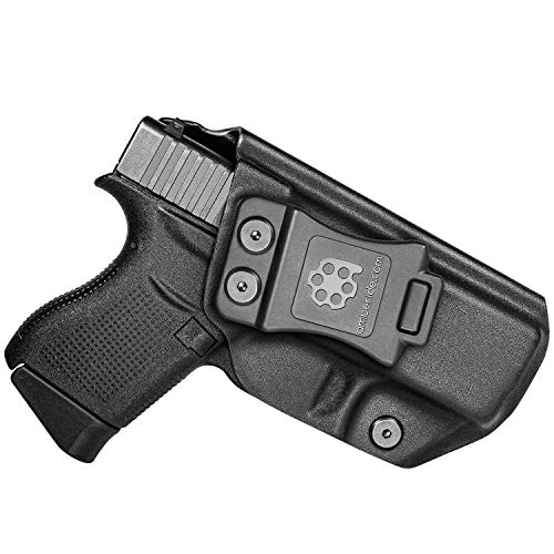 Amberide IWB KYDEX Holster Fit: Glock 43/43X | Inside Waistband | Adjustable Cant | US KYDEX Made (Black, Right Hand Draw (IWB))
