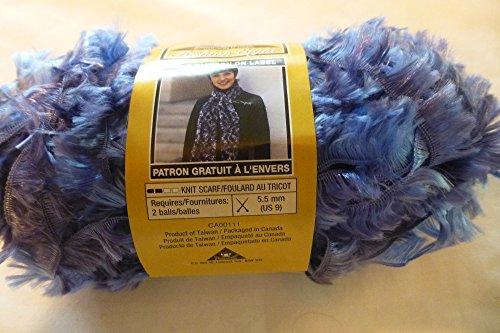 Phentex Fashion Eight Eyelash Yarn - Blue