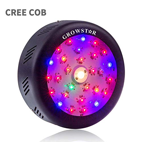 UFO Led Grow Light, Growstar 150W Full Spectrum Plant Light with High Par Value Cree COB and Switch for Indoor Plants Bloom Flowering and Growing
