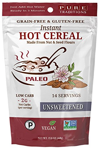 Instant Hot Cereal, Certified Paleo, Low Carb, Keto Friendly, Gluten & Grain Free, Unsweetened (15.8 oz)