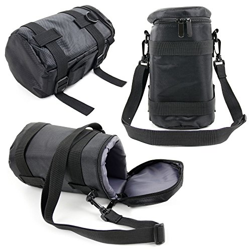 DURAGADGET Black Protective Water-Resistant Speaker Carry Bag - Compatible with The Gaosa Portable Bluetooth Speaker 10261559