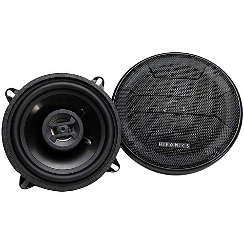 Hifonics ZS525CX Zeus Coaxial Car Speakers (Black, Pair) – 5.25 Inch Coaxial Speakers, 200 Watt, 2-Way Car Audio, Passive Crossover, Sound System (Grills Included)