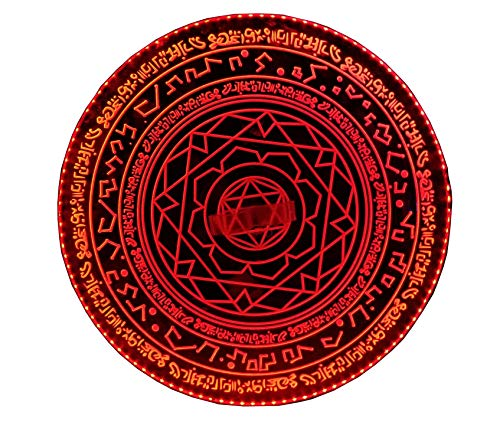 The Ruby Rings of Raggadorr Replica Doctor Magic Shield Cosplay Prop (The Ruby Rings) Red