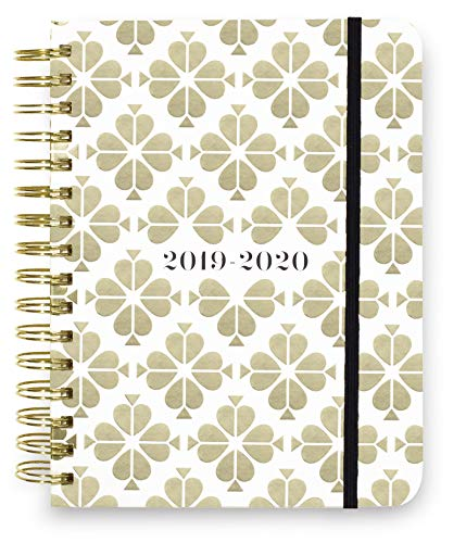 Kate Spade New York 17 Month Large Hardcover 2019-2020 Daily Planner, Weekly and Monthly Planner with Stickers, Pocket Folder, Tab Dividers, 8' x 6.5', August 2019 - December 2020, Spade Flower