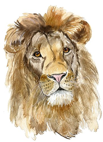 Lion art #A007. Lion art print (8x10). Lion wall art. African lion painting.Lion painting.Lion pictures.Lion face paint.Paintings of lions.Pictures of lions.Lion nursery wall art.