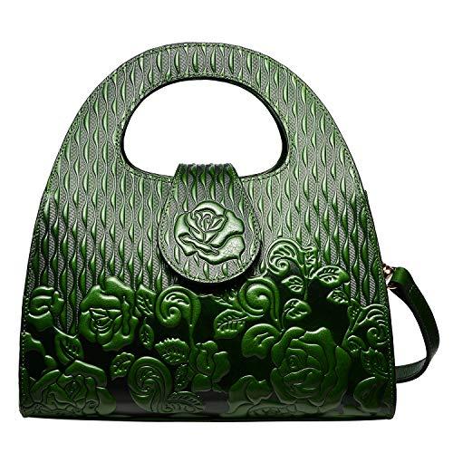 PIJUSHI Designer Handbags For Women Top Handle Satchel Bags Leather Handbag (99816 Green)