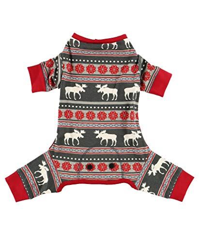LazyOne Flapjacks, One-Piece Dog Sweater, Matching Family Pajamas for Dogs, Moose, Animal (Medium)