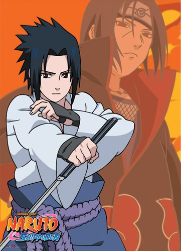 Great Eastern Entertainment Naruto Shippuden Itachi and Sasuke Wall Scroll, 33 by 44-Inch