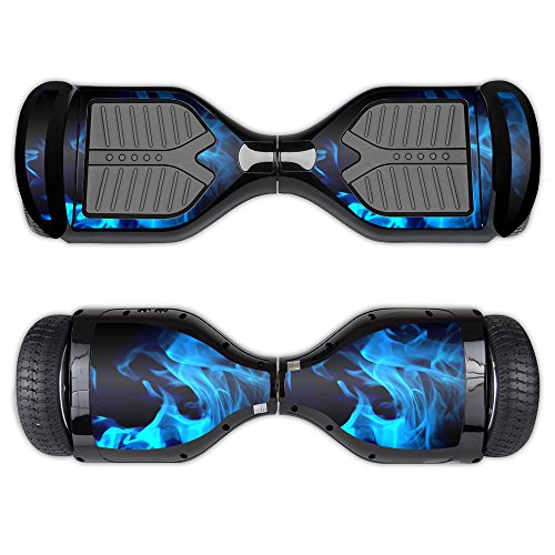 MightySkins Skin Compatible with Swagtron T1 - Blue Flames | Protective, Durable, and Unique Vinyl Decal wrap Cover | Easy to Apply, Remove, and Change Styles | Made in The USA