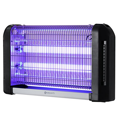 YUNLIGHTS Bug Zapper Outdoor Electric Fly Traps Indoor 28W Fly Zapper - Insect Killer for Indoor-Mosquito Zapper - Mosquito Lamp Plug in Hanging for Indoor Home Kitchen Garage Restaurant and Hotel