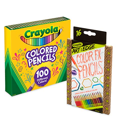Crayola 100 Colored Pencils with 16 Color Fx, Amazon Exclusive, Gift