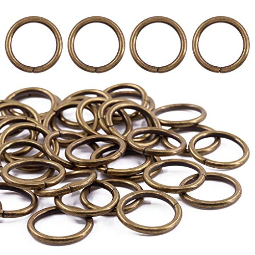 Swpeet 60Pcs 1 Inch / 25mm Bronze Heavy Duty Multi-Purpose Metal O Ring Metal Rings for Hardware Bags Ring Hand DIY Accessories Keychains Belts and Dog Leas