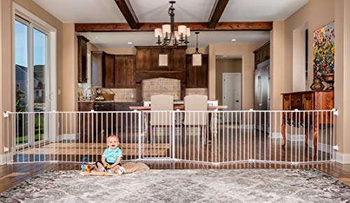 Regalo 192-Inch Super Wide Adjustable Baby Gate and Play Yard, 4-In-1, Bonus Kit, Includes 4 Pack of Wall Mounts