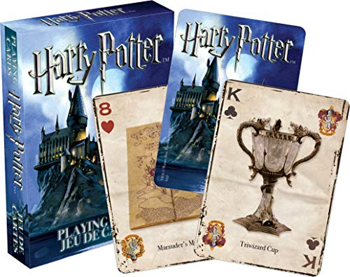 AQUARIUS Harry Potter Playing Cards - HP Themed Deck of Cards for Your Favorite Card Games - Officially Licensed Harry Potter Merchandise & Collectibles - Poker Size with Linen Finish