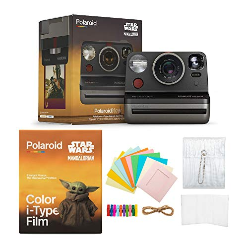 Polaroid Now i-Type Instant Camera Star Wars Mandalorian Special Edition w/Baby Yoda Film Bundle (3 Items)