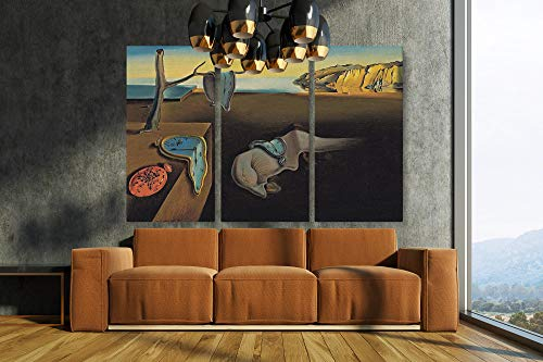 Salvador Dali - The Persistence Of Memory Canvas Art Wall Art Home Decor (3 Piece Large)