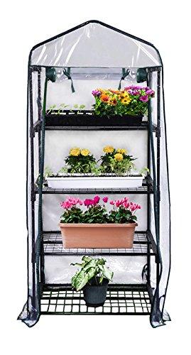 Gardman R687 4-Tier Mini Greenhouse, 27' Long x 18' Wide x 63' High