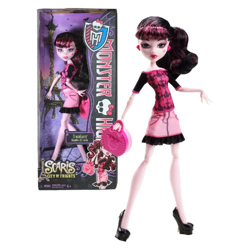 Mattel Year 2012 Monster High 'Scaris City of Frights' Series 10 Inch Doll Set - Daughter of Dracula DRACULAURA with Purse