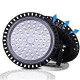UFO LED High Bay Light, 6000-6500K, IP54, Waterproof Dust Proof, Warehouse LED Lights High Bay Lighting for Garage, Factory, Gymnasium, Basement, Parking(Newest Design )… (200W)