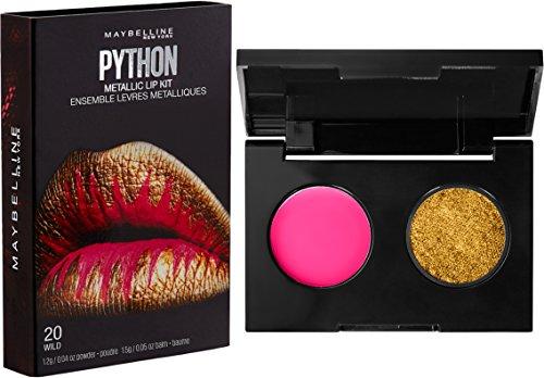 Maybelline New York Lip Studio Python Metallic Lip Makeup Kit, Wild, 0.09 oz.