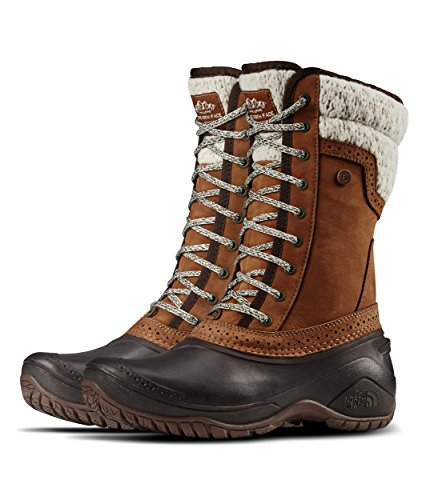 The North Face Shellista II Mid Snow Boot, Dachshund Brown/Demitasse Brown, 8