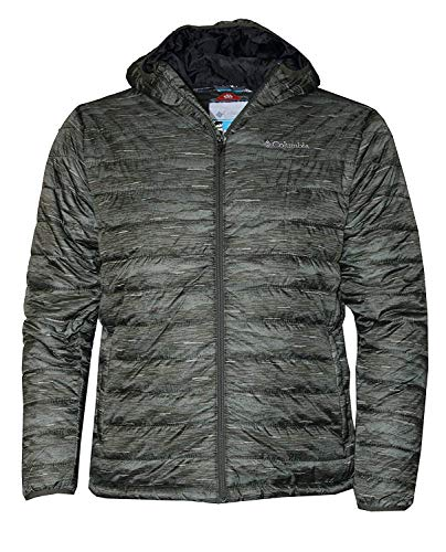 Columbia Men's Crested Butte Omni-Heat Hooded Jacket, Peatmoss, Small