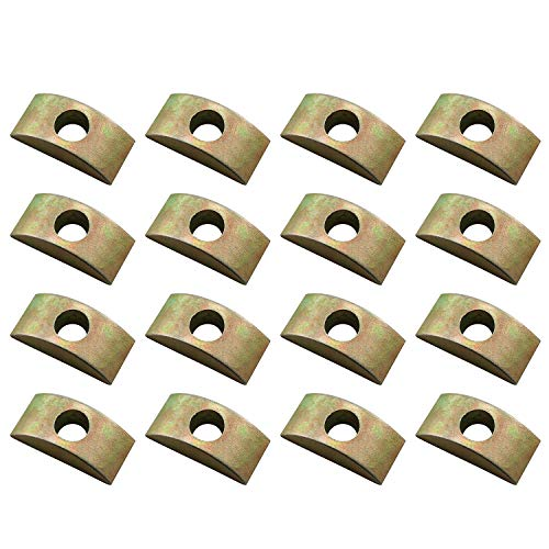 JCBIZ 12pcs 30mm M8 Half Moon Nuts Washer Spacer Furniture Hardware Accessories for Furniture Connect