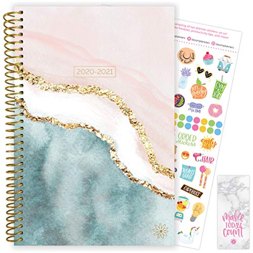 """bloom daily planners 2020-2021 Academic Year Day Planner & Calendar (July 2020 - July 2021) - 6"""" x 8.25"""" - Weekly/Monthly Agenda Organizer with Stickers and Bookmark - Daydream Believer"""
