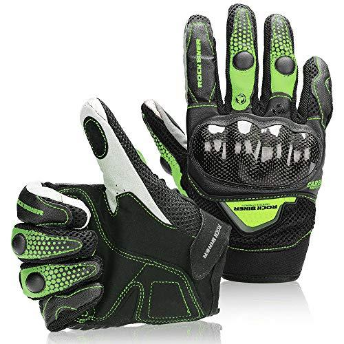 kemimoto Motorcycle Gloves Men Women Touchscreen Riding Full Finger for Motorcross Motorbike Racing Gloves Dirt Bike ATV UTV Cycling Outdoor Gloves L