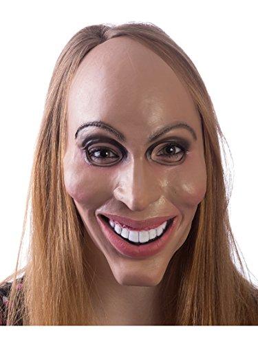 HMS Latex Rubber Creepy Female Eradicate Mask- One Size, 8.5' x 6.5'