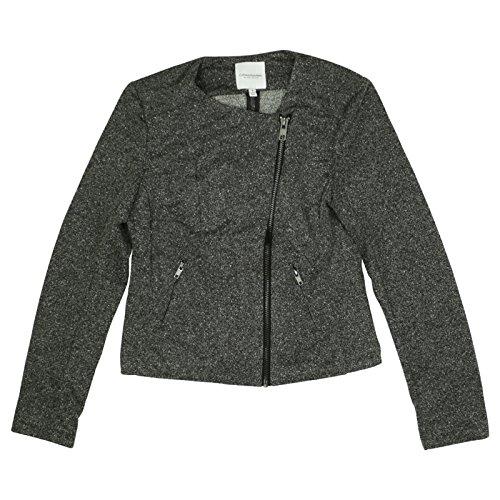 Catherine Malandrino Womens Runway Style Zip Front Jacket Medium Tweed