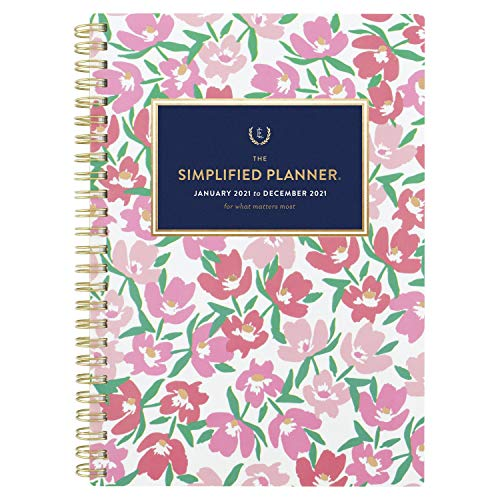 2021 Weekly & Monthly Planner Simplified by Emily Ley for AT-A-GLANCE, 5-1/2' x 8-1/2', Floral (EL55-200)
