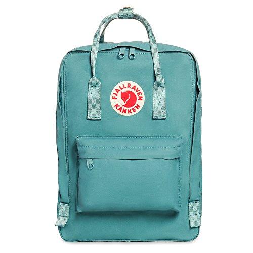 Fjallraven, Kanken Laptop 15' Backpack for Everyday, Frost Green/Chess Pattern
