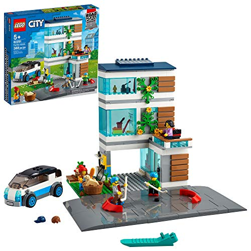 LEGO City Family House 60291 Building Kit; Toy for Kids, New 2021 (388 Pieces)