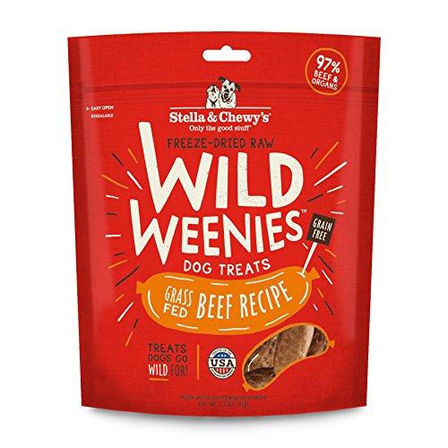 Stella & Chewy's Freeze-Dried Raw Beef Wild Weenies Dog Treats, 3.25 oz bag