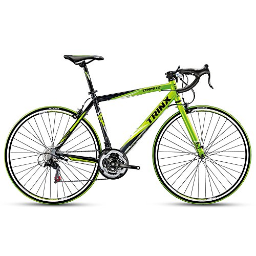 Trinx TEMPO1.0 700C Road Bike Shimano 21 Speed Racing Bicycle (Black/Green)