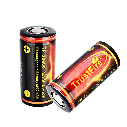 TrustFire 32650 Button Top Rechargeable Batteries 3.7V 6000mAh for Flashlight 【1PCS Included】