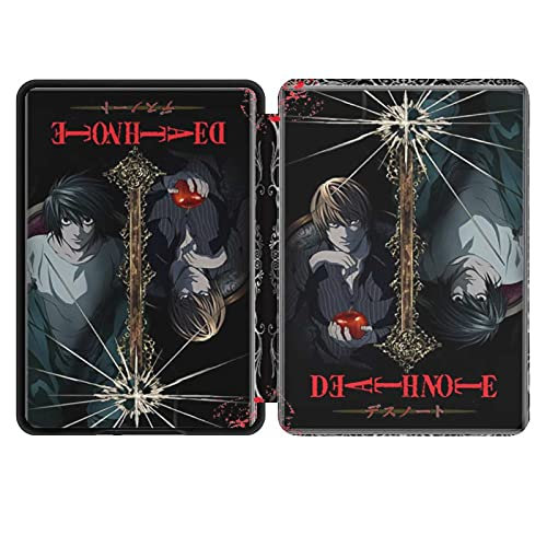 Kindle Paperwhite 2018-PU leather smart case waterproof case, with automatic wake-up and sleep mode, the latest Kindle Paperwhite leather case skin K10 (2018 10th generation)Death Note Review Yagami L