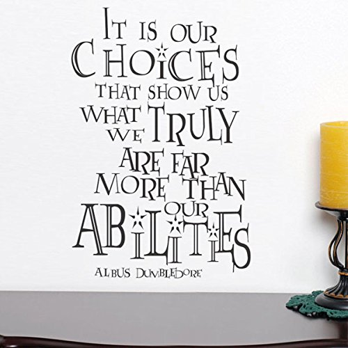 DigTour WallArt It is Our Choices Custom Vinyl Inspirational Wall Decal Harry Potter Quote Albus Dumbledore Saying Words Wall Letters Home Art Decoration Black