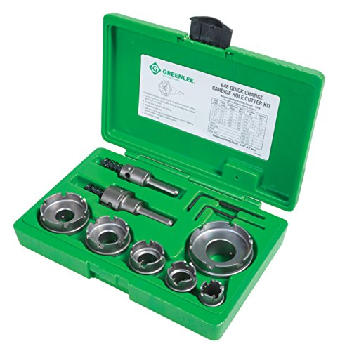 Greenlee - Carbide Cutter, Qck Chnge, 8Pc, Hole Making (648)
