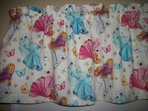 Princess Sayings disney cartoon fabric window curtain topper Valance