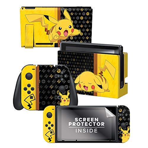 Controller Gear Nintendo Switch Skin & Screen Protector Set - Pokemon - Pikachu Set 1 - Nintendo Switch