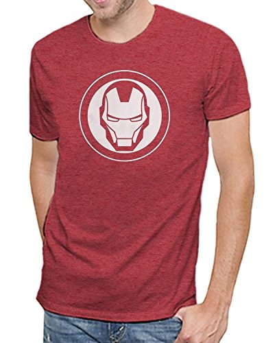 Marvel Iron Man Logo Men's Soft Red Heather T-Shirt | Avengers Infinity War Edition (3XL)