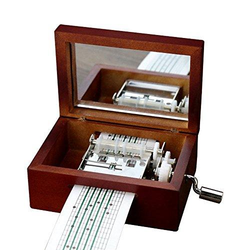 Youtang Vintage Wood 15 Note Mechanism Musical Box Handcrank Music Box Gift