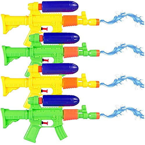 Liberty Imports 4-Pack AK47 Machine Gun Water Squirters Super Shooters - Bulk Party Favors Kids Toy Swimming Pool Beach Sand Water Fighting (11-Inch)