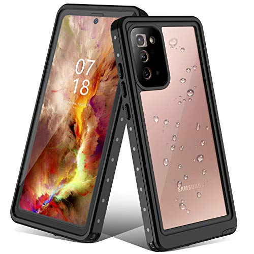 Nineasy Galaxy Note 20 Case, Note 20 Waterproof Case, with Anti-Scratch Built-in Screen Protector, 360FullBodyProtective,IP68 Waterproof Shockproof Case for Samsung Galaxy Note 20 5G 6.7 Inch
